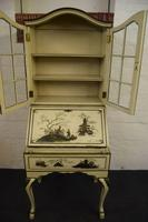 Lovely Antique Chinoiserie Bureau Bookcase (8 of 8)