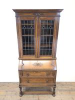 Early 20th Century Antique Oak Bureau Bookcase (2 of 16)