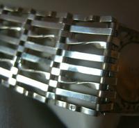Vintage Sterling Silver Gate Bracelet 1976 St Christopher & Heart Padlock 34.3 Grams (11 of 12)