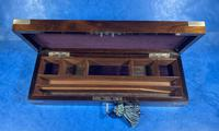 Victorian Rosewood Nickel Silver Bound Writing Box (8 of 16)