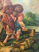 After Amos Cassioli - Large 20th Century Oil on Canvas Painting (7 of 12)