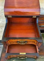 Maple & Co - Stunning Edwardian Marquetry Rosewood Library Writing Table Desk (9 of 15)