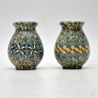 1960's Pair of Vallauris Ceramic 'Mosaic' Vases by Jean Gerbino (3 of 10)