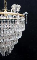 Italian Art Deco Five Tier Crystal Glass Chandelier - 1930s (3 of 6)