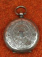 Antique .935 Silver Swiss Hallmarked Pocket Fob Watch c.1880 (2 of 8)