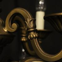 French Gilded Brass 12 Light Tiered Chandelier Oka04098 (8 of 10)