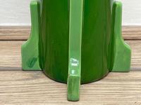 Original Art Nouveau Eichwald Pottery Green Glazed Rocket Flower Vase (4 of 23)