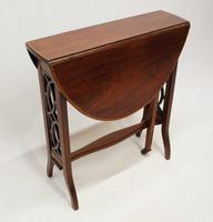 Edwardian  Inlaid Mahogany  Oval Sutherland Table (10 of 13)