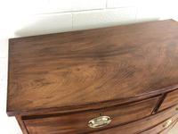 19th Century Mahogany Bow Front Chest of Drawers (10 of 18)