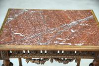 Antique French Walnut & Marble Table (7 of 8)