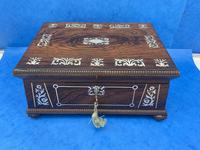 William IV Rosewood Box With Mother Of Pearl Inlay (2 of 14)