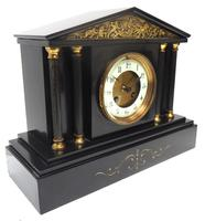 Amazing French Slate 8 Day Striking Mantle Clock (6 of 12)