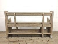 Antique Pine Chapel Pew Bench (9 of 9)