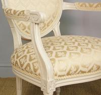 19th Century French Painted Fauteil Armchair (6 of 9)