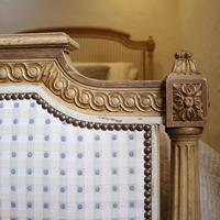Louis XVI Style Bed with Upholstered Panels (8 of 10)
