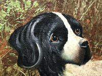 20th Century English Oil Painting Hunting Setter Dog & Pheasants in Flight L Eiford (3 of 10)