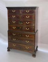 Georgian Mahogany Polychrome Painted Chest on Chest