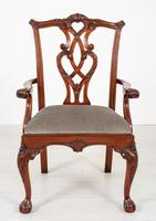 Set of 8 Mahogany Chippendale Style Dining Chairs (2 of 17)