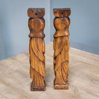 Pair of Bird & Lute Carved Figures (9 of 9)