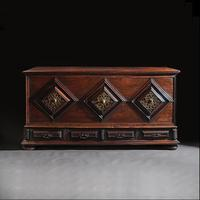 Imposing 17th Century Portuguese Colonial Mahogany & Brass Chest (8 of 8)