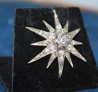 Diamond Star Pendant Set with Old Cut Diamonds (5 of 6)