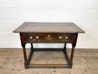 Antique Georgian Oak Side Table (3 of 10)