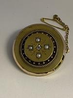 Victorian 15ct Pearl & Diamond Locket Brooch (6 of 6)