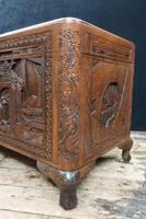 Oriental Carved Teak & Camphor Wood Chest - 1930s (11 of 15)