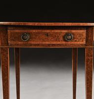 Rare 18th Century George III Yew-wood Inlaid Oval Pembroke Table (5 of 6)