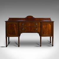 Antique Bow Front Sideboard, English, Mahogany, Dresser, Cabinet, Victorian (6 of 12)