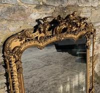 Large Victorian Gilt Overmantel Mirror (3 of 20)