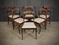 Set of 6 Regency Brass Inlaid Dining Chairs (6 of 16)