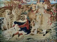 Large Beautiful Framed Original 19thc German Berlin Needlework Tapestry Picture (13 of 15)
