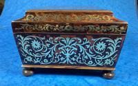 English Boulle & Brass Kingwood Edged Jewellery Box (11 of 16)