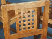 Mouseman Oak Dining Table & Set of 6 Chairs (11 of 20)