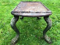French 18th Century Georgian Grand Tour Garden Cast Iron Plinth Table Claw Feet (27 of 33)