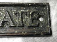 English Antique Bronze Edwardian Garden Plaque Gate Sign Please Close The Gate (7 of 16)