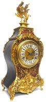Rare Large Antique French Boulle Mantel Clock Ormolu Inlay 8 Day Mantle Clock (3 of 16)