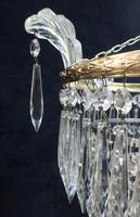Pair of Italian Art Deco Four Tier Crystal Glass Chandeliers (4 of 7)