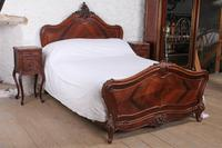 Handsome Rosewood King Size Louis XV Style Bed & Matching Bedsides