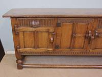 Antique Oak Sideboard Dresser Base Server (7 of 11)