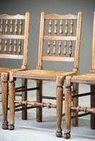 4 Country Spindle Back & Rush Chairs (5 of 11)