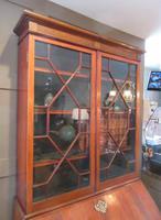 Fine George III Period Flame Mahogany Bureau Bookcase (4 of 9)