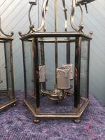 Pair English Glazed Brass Lanterns (9 of 9)