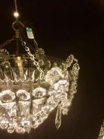 Small One Light French Bag Chandelier (4 of 5)