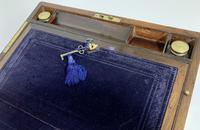 Superb Antique Victorian Rosewood Brass Bound Writing Slope Box (5 of 15)