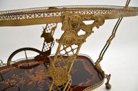 Vintage Italian Brass & Marquetry Drinks Trolley (9 of 14)