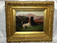 "Victorian Oil Painting Hunting ""Game Dogs"" Signed Robert Cleminson (6 of 29)"