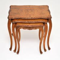 French Burr Walnut Nest of Tables (2 of 9)