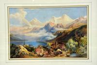 Lovely 19th Century Italian Landscape Watercolour (3 of 4)